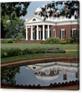 Reflections Of Monticello Canvas Print