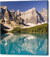 Reflections Of Moraine Lake Canvas Print