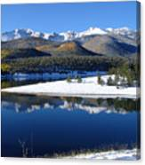 Reflections Of Pikes Peak In Crystal Reservoir Canvas Print