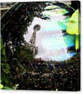 Reflections Of The Space Needle Canvas Print
