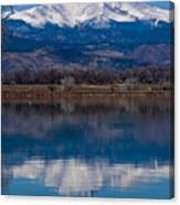 Reflections Of The Twin Peaks Canvas Print