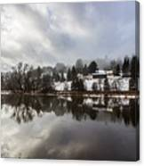 Reflections Of Winter Flood Canvas Print