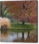 Reflections On A Fall Day Canvas Print