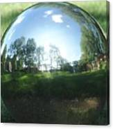Reflections On A Steel Sphere Canvas Print