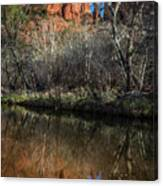 Reflections On Cathedral Rock Canvas Print