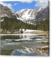 Reflections On Chinns Lake 6 Canvas Print