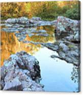 Reflections On Rocky Creek 2 Canvas Print