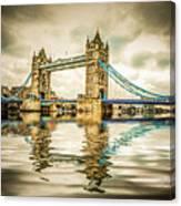 Reflections On Tower Bridge Canvas Print