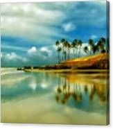 Reflective Beach Canvas Print
