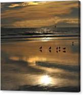 Reflective Sunset Canvas Print