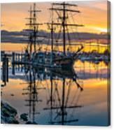 Reflectons On Sailing Ships Canvas Print