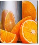 Reflet Orange Canvas Print