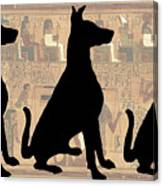 Regal Sit, Ancient Egyptian Background Canvas Print