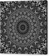 Regalia Black And White No. 4 Canvas Print