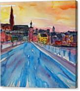 Regensburg Pearl On Danube Germany Canvas Print