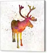 Reindeer 02 In Watercolor Canvas Print