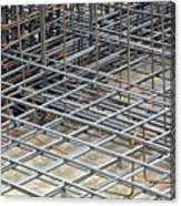 Reinforced Steel Bars Canvas Print