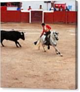 Rejoneador And The Bull, San Miguel De Allende Canvas Print