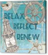 Relax Reflect Renew Canvas Print