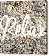 Relax Seashell Background Canvas Print
