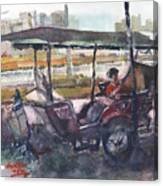 Relaxed Tuk Tuk In Phnom Penh Canvas Print