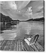 Relaxing On The Dock Canvas Print