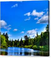 Relaxing On The Moose River Canvas Print