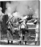 Reliving History-bw Canvas Print