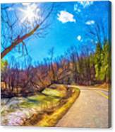 Reluctant Ontario Spring 3 - Paint Canvas Print