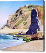 Remains Of Ancient Constructions On Seacoast  Canvas Print