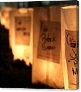 Rememberance Of Life - Luminaries At Relay Canvas Print