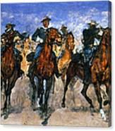 Remington: Troopers, C1890 Canvas Print