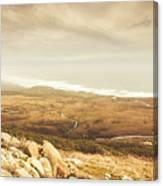Remote Roads And Foggy Coastlines Canvas Print