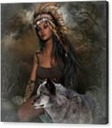 Rena Indian Warrior Princess Canvas Print