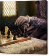 Renaissance Lady Playing Chess Canvas Print
