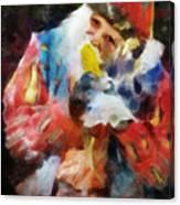 Renaissance Man With Corn On The Cob Canvas Print