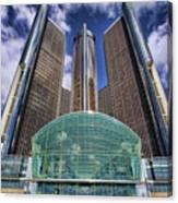 Rencen Detroit Gm Renaissance Center Canvas Print