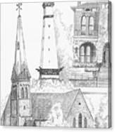 Rendering Of Indianapolis Landmarks  Canvas Print