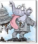 Republicans Lick Congress Canvas Print