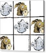 Republicans Win Tic Tac Toe Canvas Print