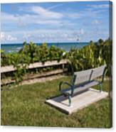 Reserved For A Visitor To East Coast Florida Canvas Print