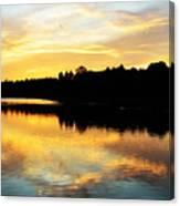 Reservoir Sunset 1 Canvas Print