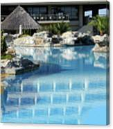Resort With Swimming Pool Canvas Print
