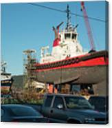 Response In Anacortes Drydock Canvas Print
