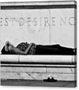 Rest Desire Not Canvas Print