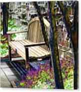 Rest In The Garden Canvas Print
