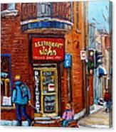 Restaurant John Montreal Canvas Print