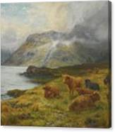 Resting By A Loch Canvas Print