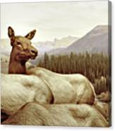 Resting Deer Canvas Print