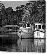 Resting Shrimp Boats Canvas Print